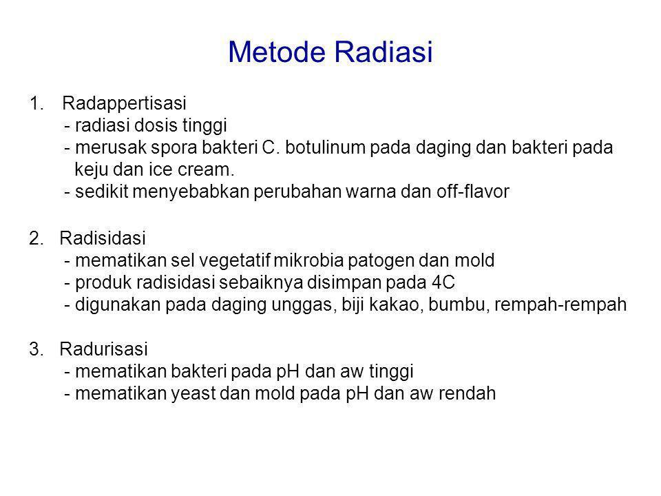 Metode Radiasi Radappertisasi - radiasi dosis tinggi