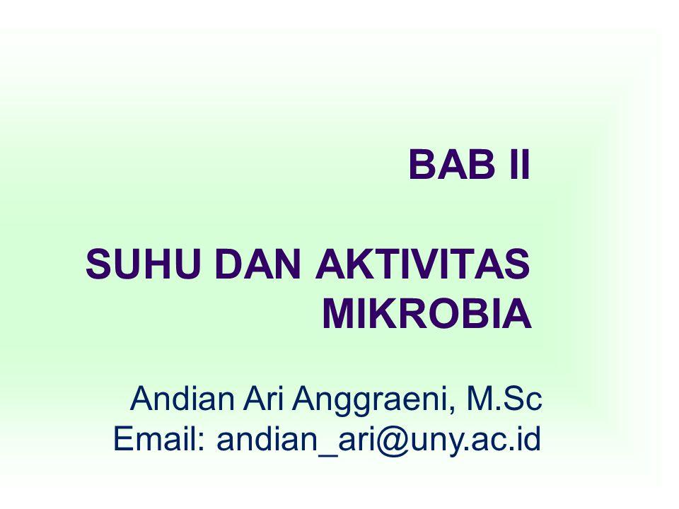 BAB II SUHU DAN AKTIVITAS MIKROBIA