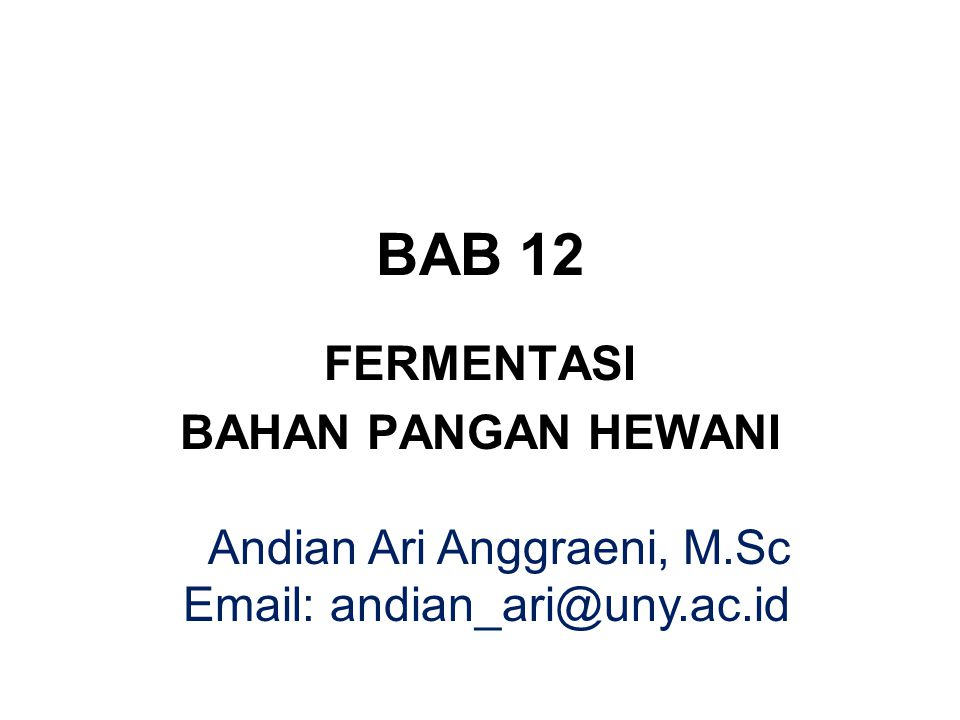 FERMENTASI BAHAN PANGAN HEWANI