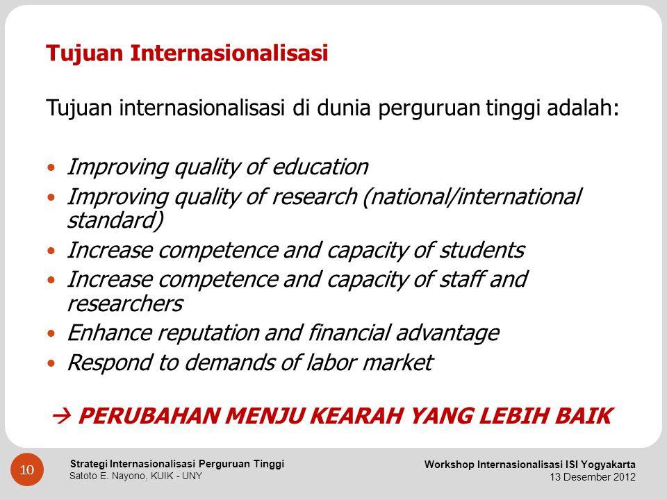 Tujuan Internasionalisasi