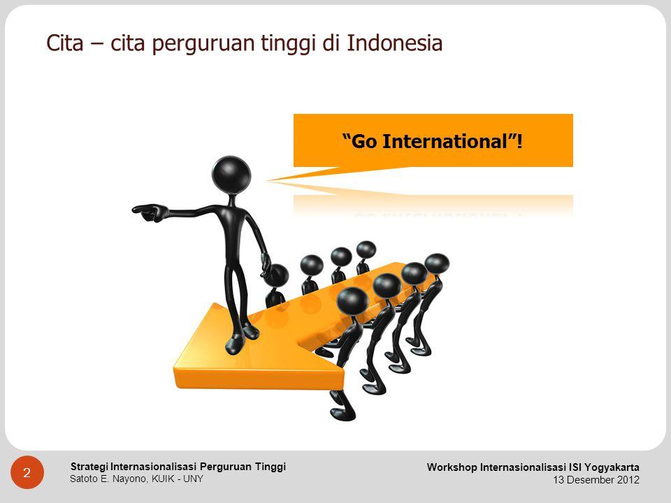 Cita – cita perguruan tinggi di Indonesia