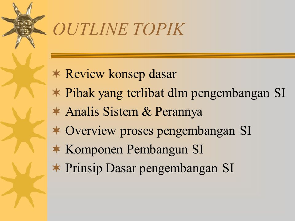 OUTLINE TOPIK Review konsep dasar