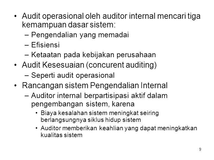 Audit Kesesuaian (concurent auditing)
