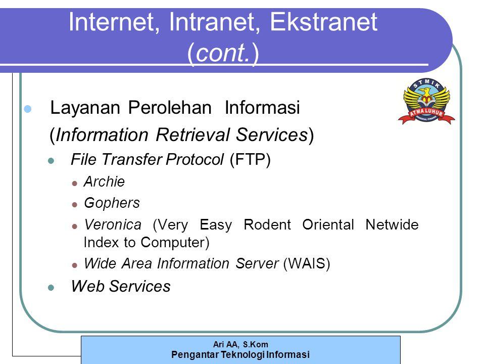 Internet, Intranet, Ekstranet (cont.)