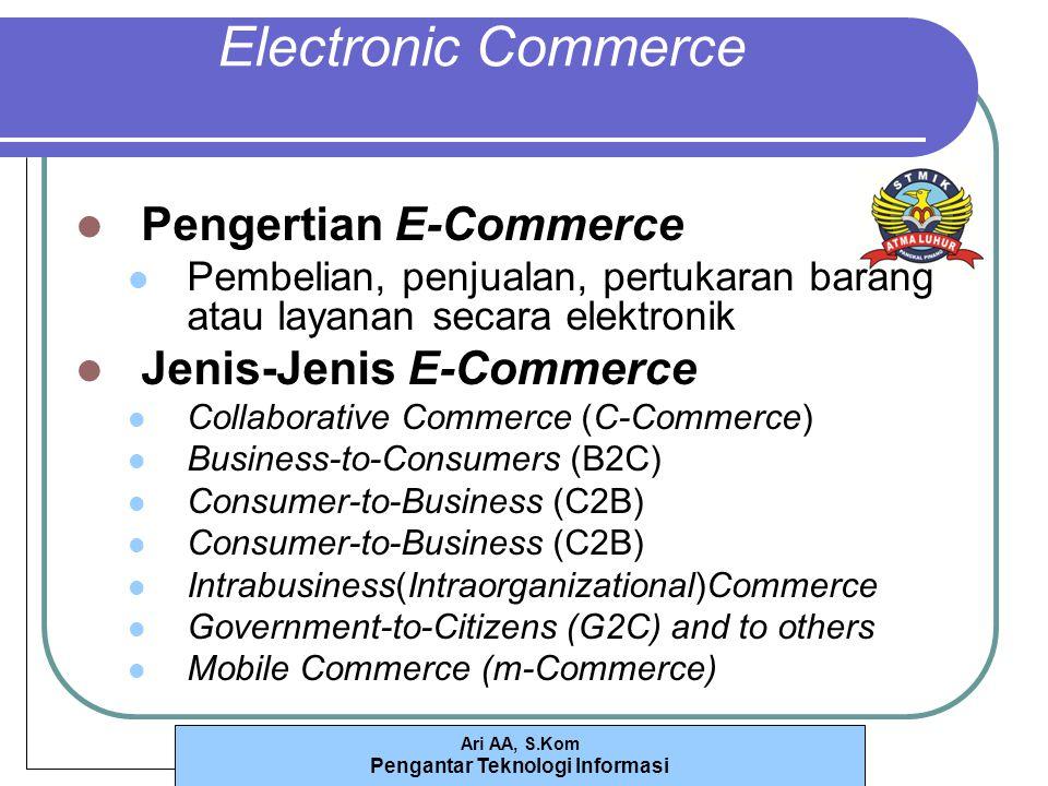 Electronic Commerce Pengertian E-Commerce Jenis-Jenis E-Commerce