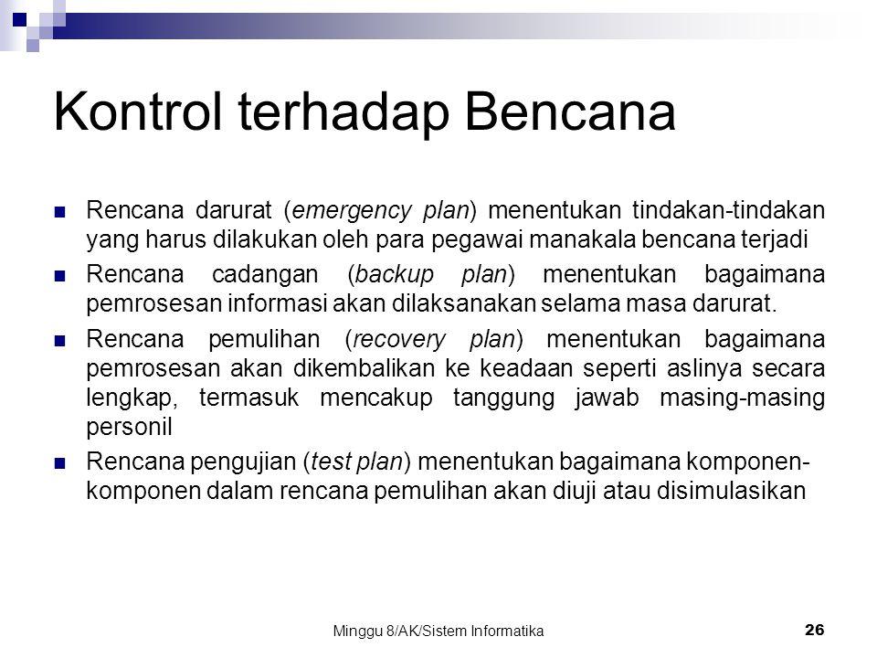 Kontrol terhadap Bencana