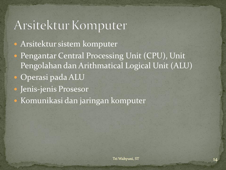Arsitektur Komputer Arsitektur sistem komputer