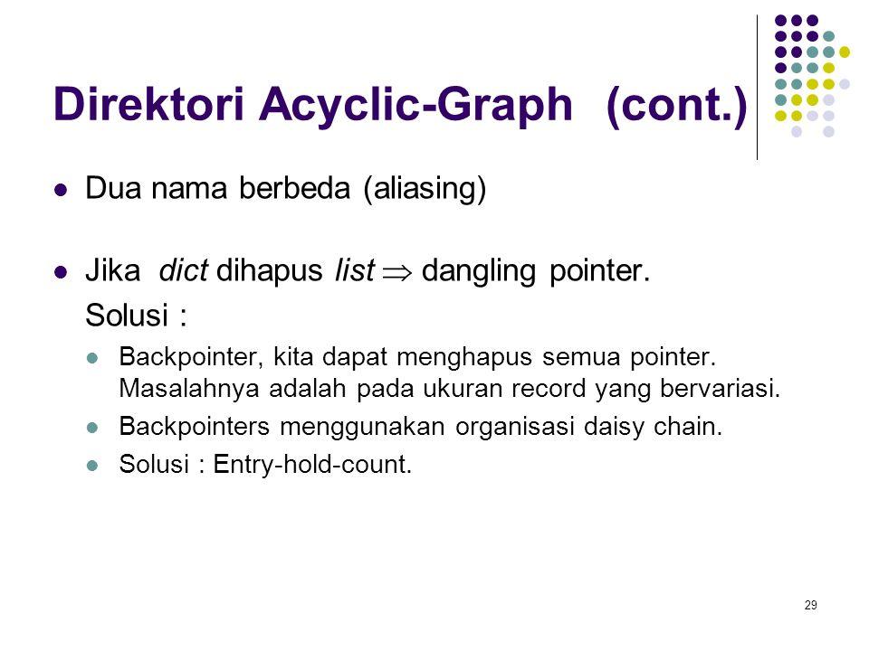 Direktori Acyclic-Graph (cont.)