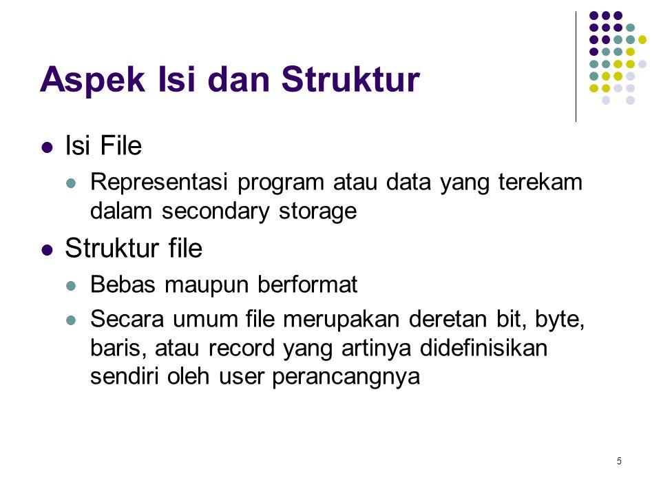 Aspek Isi dan Struktur Isi File Struktur file