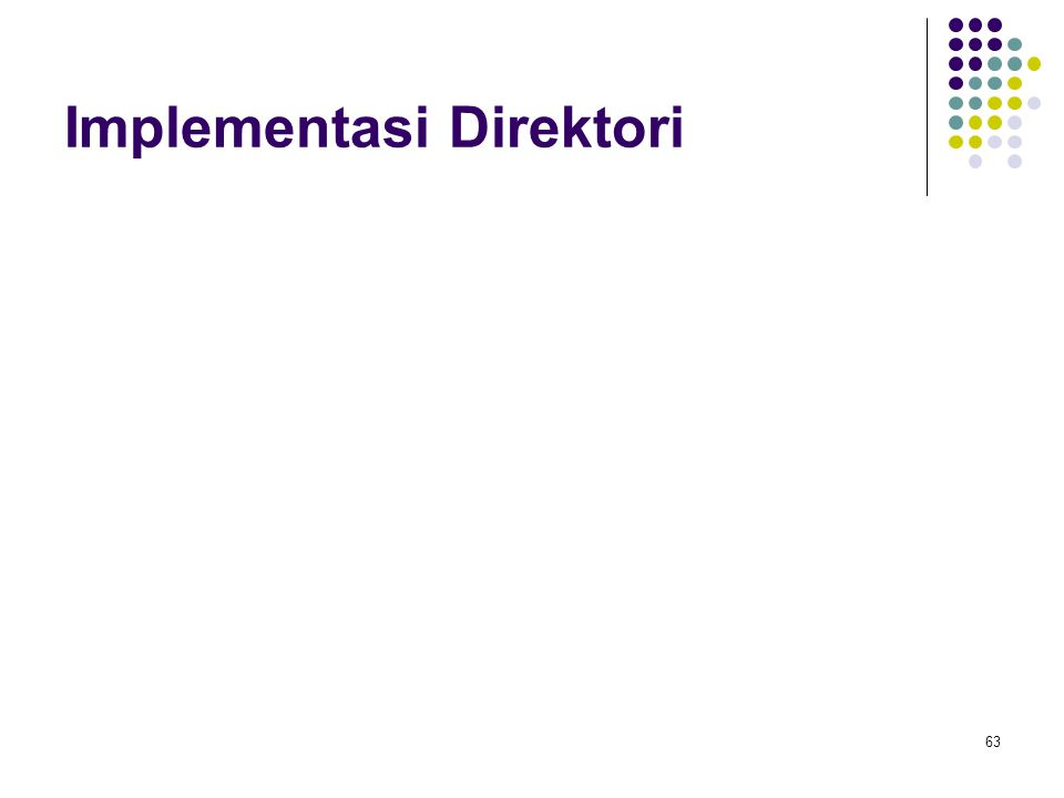 Implementasi Direktori