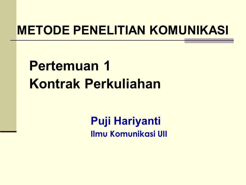 Pertemuan 1 Kontrak Perkuliahan Puji Hariyanti