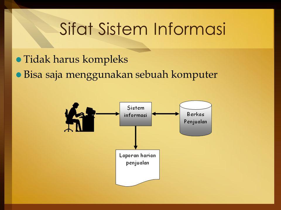 Sifat Sistem Informasi