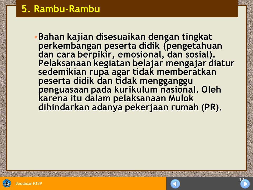 5. Rambu-Rambu
