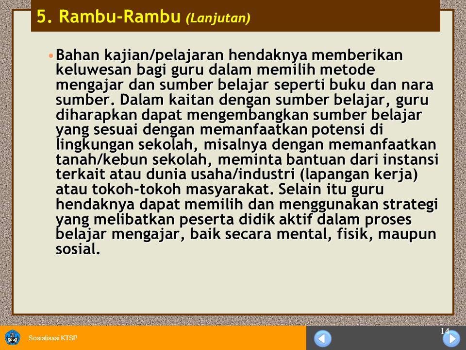 5. Rambu-Rambu (Lanjutan)