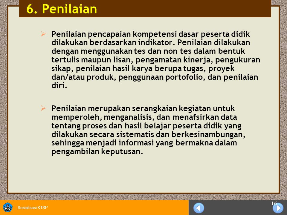6. Penilaian