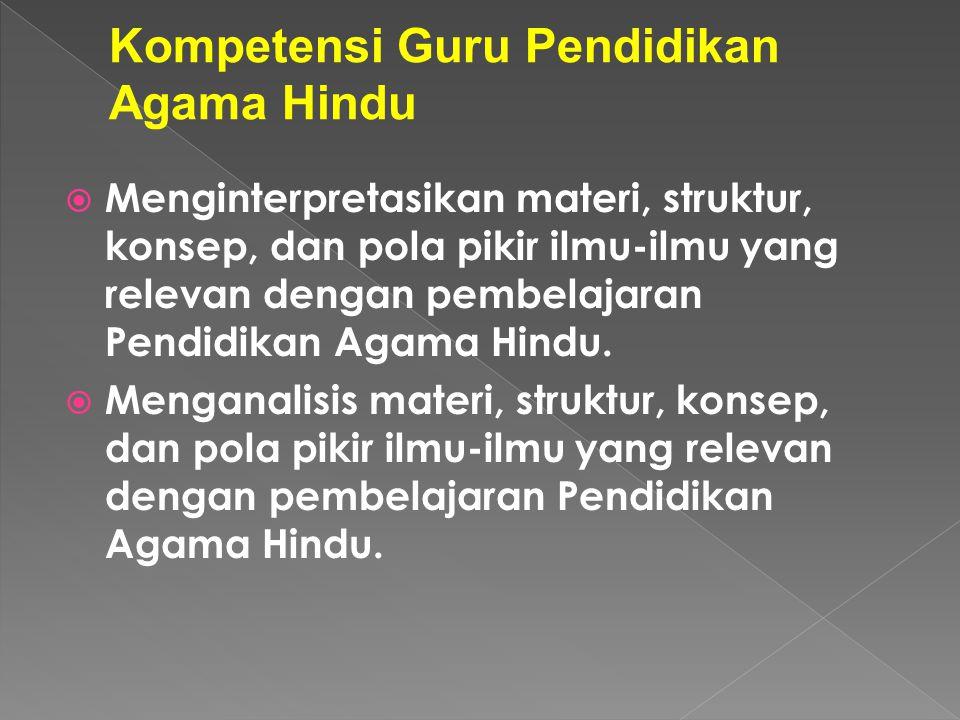 Kompetensi Guru Pendidikan Agama Hindu