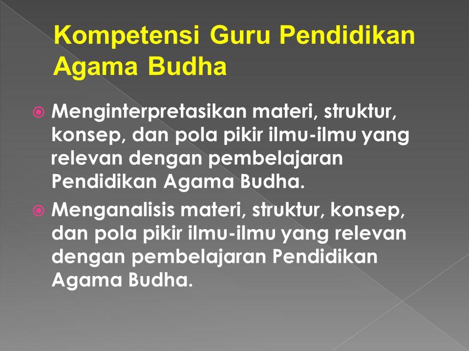 Kompetensi Guru Pendidikan Agama Budha