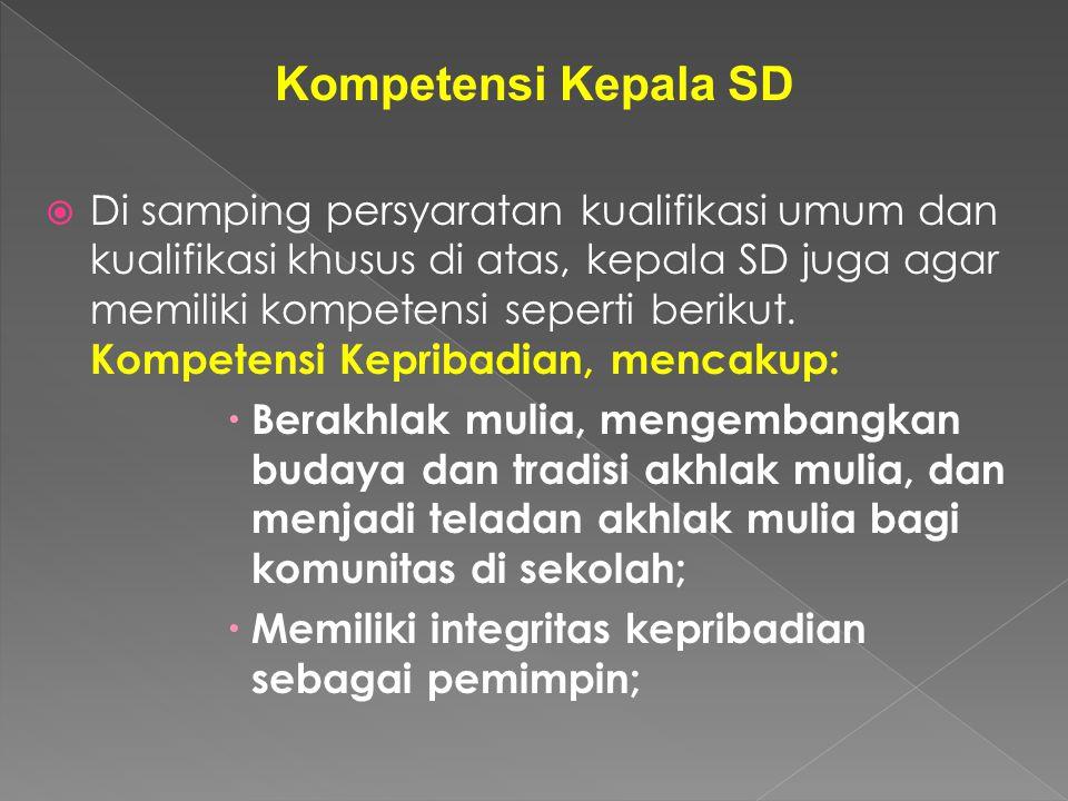 Kompetensi Kepala SD