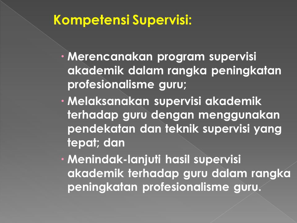 Kompetensi Supervisi: