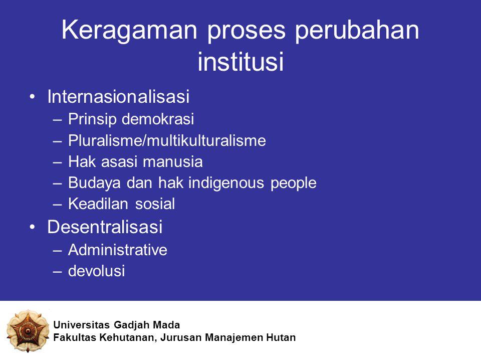 Keragaman proses perubahan institusi