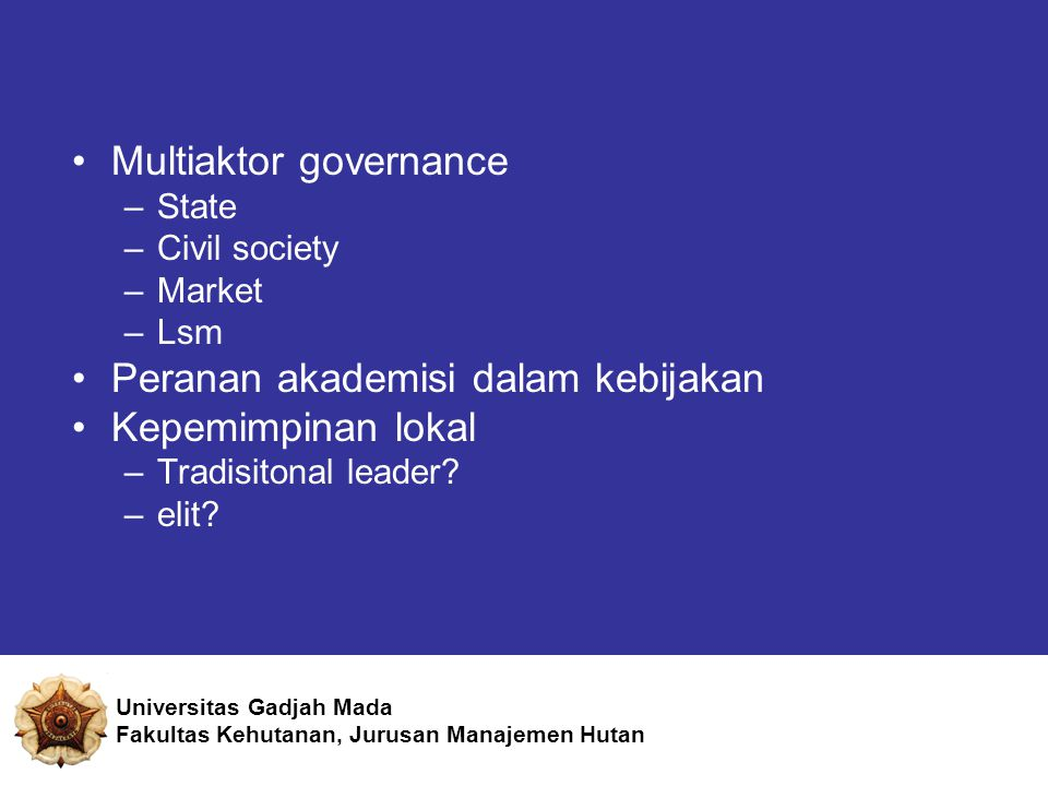 Multiaktor governance