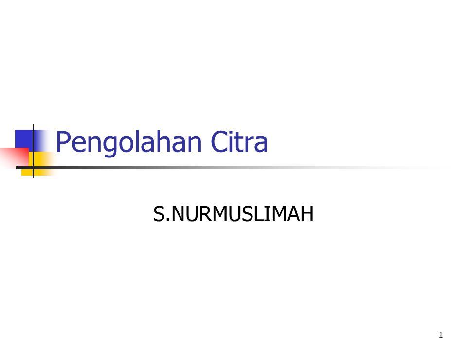 Pengolahan Citra S.NURMUSLIMAH