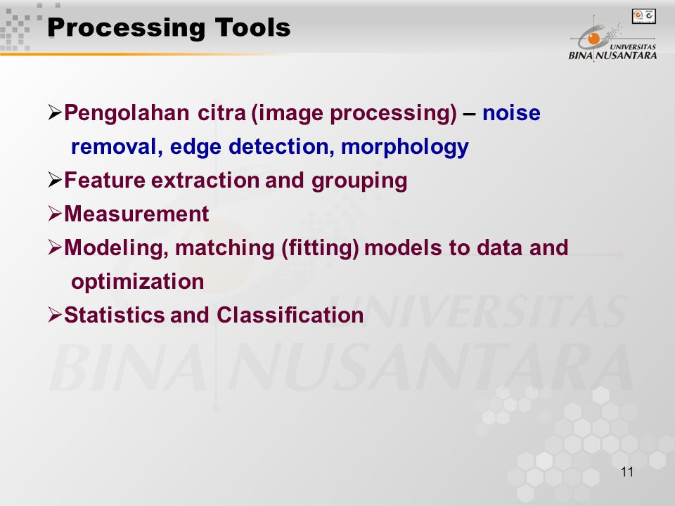 Processing Tools Pengolahan citra (image processing) – noise