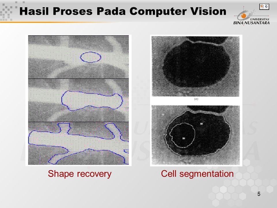 Hasil Proses Pada Computer Vision