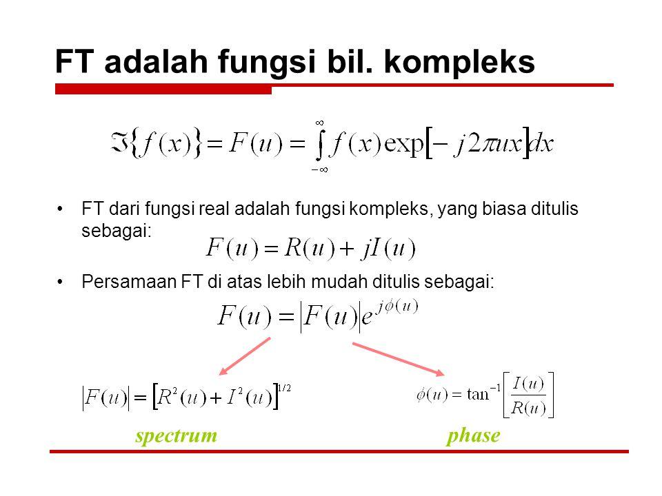 FT adalah fungsi bil. kompleks