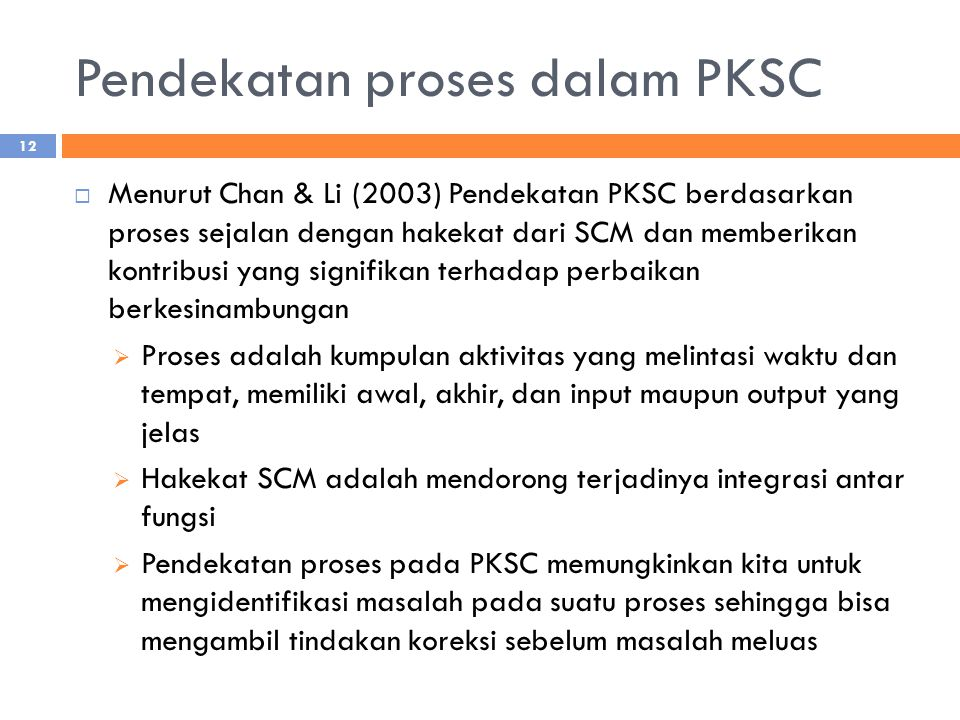 Pendekatan proses dalam PKSC