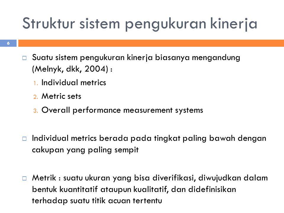 Struktur sistem pengukuran kinerja