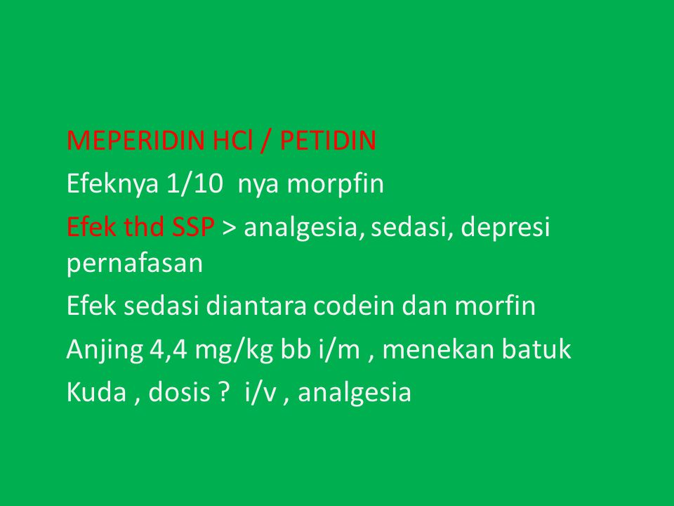 MEPERIDIN HCl / PETIDIN