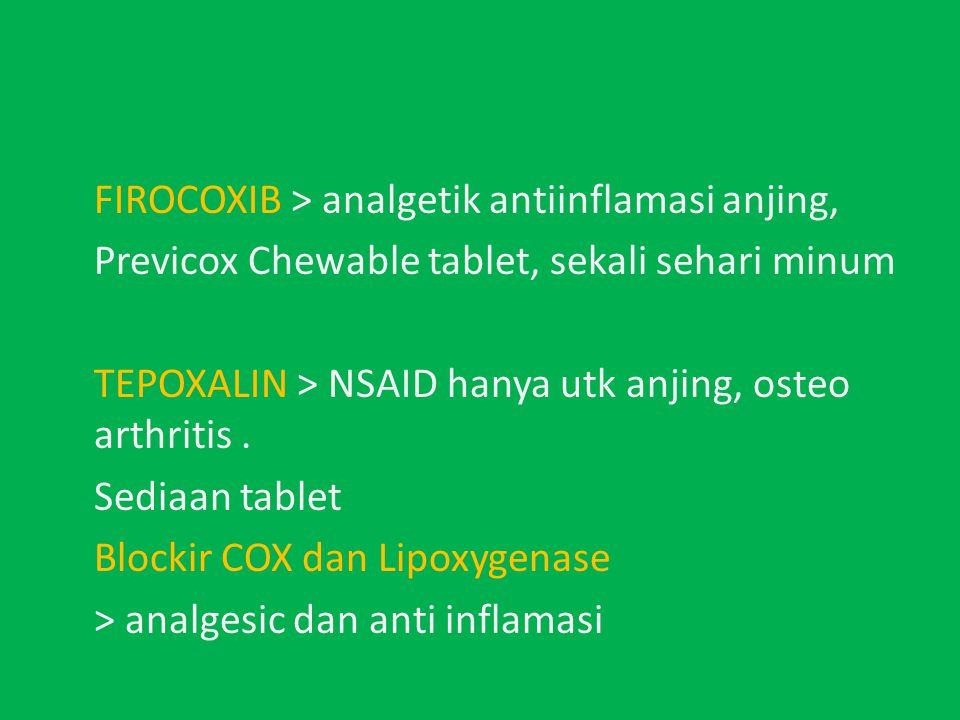 FIROCOXIB > analgetik antiinflamasi anjing,