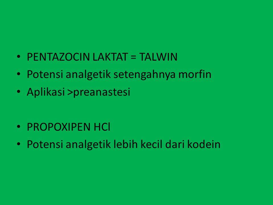 PENTAZOCIN LAKTAT = TALWIN