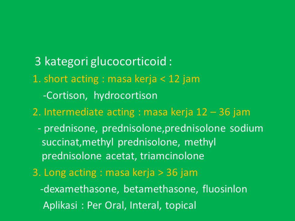 3 kategori glucocorticoid :