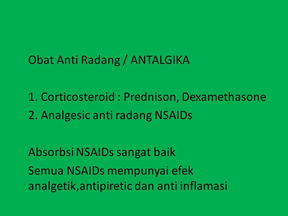 Obat Anti Radang / ANTALGIKA
