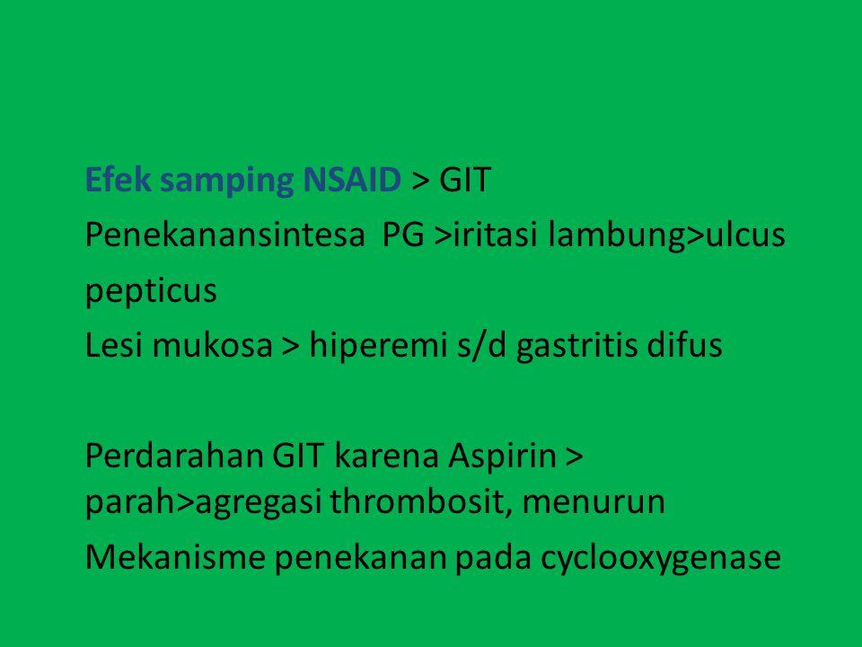 Efek samping NSAID > GIT