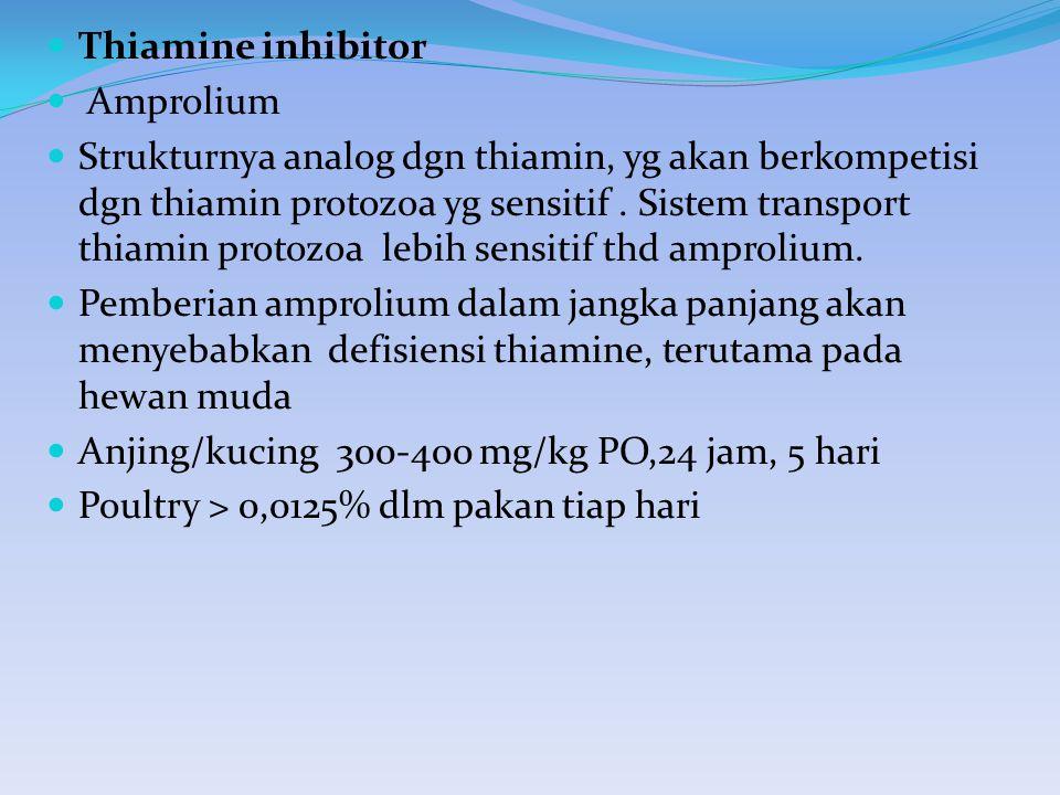 Thiamine inhibitor Amprolium.