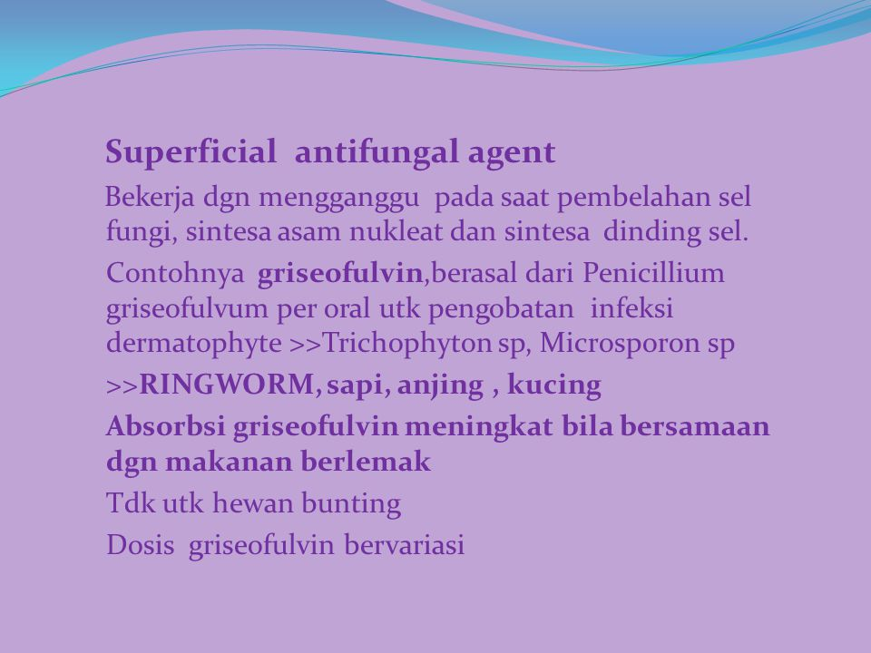 Superficial antifungal agent