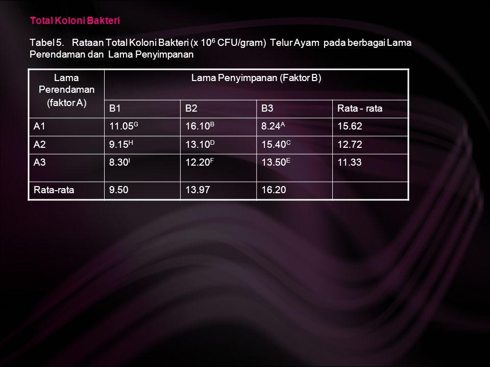 Lama Penyimpanan (Faktor B)