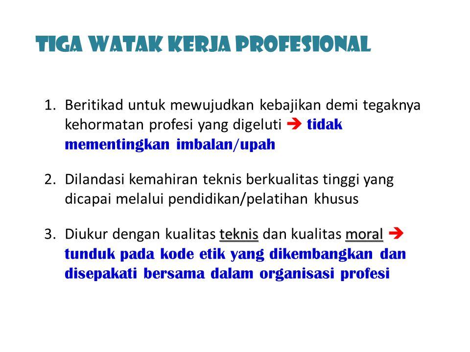 Tiga Watak Kerja profesional
