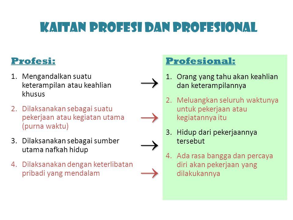 Kaitan Profesi dan Profesional