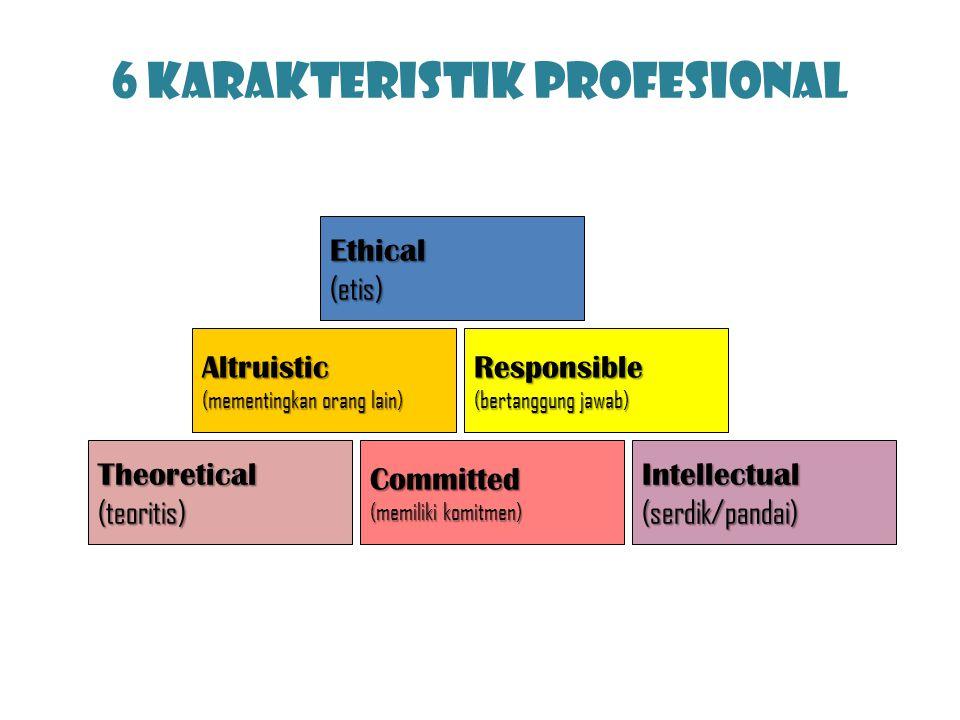 6 Karakteristik Profesional