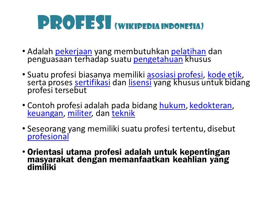 Profesi (Wikipedia Indonesia)