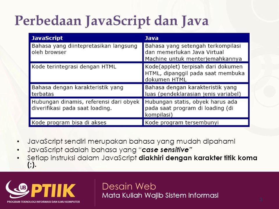 Perbedaan JavaScript dan Java