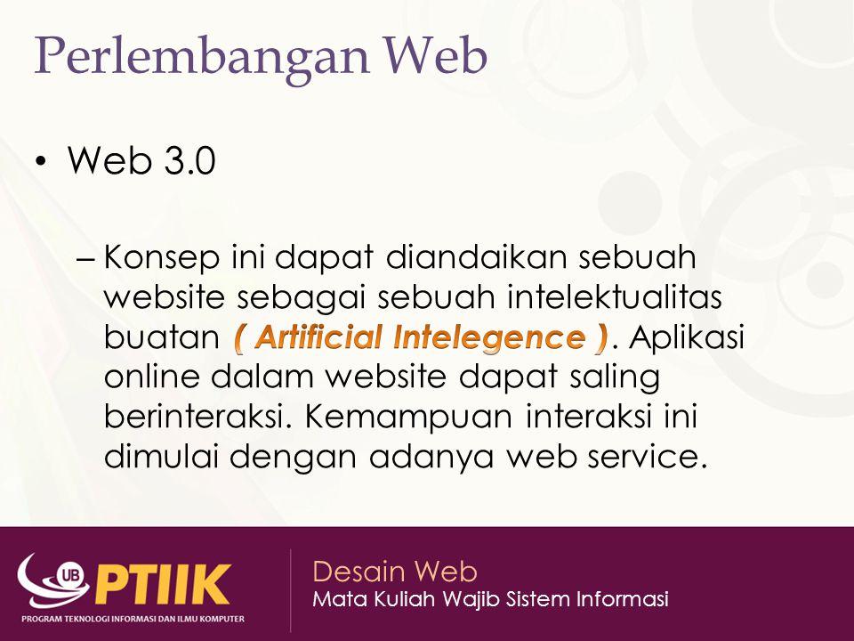 Perlembangan Web Web 3.0.