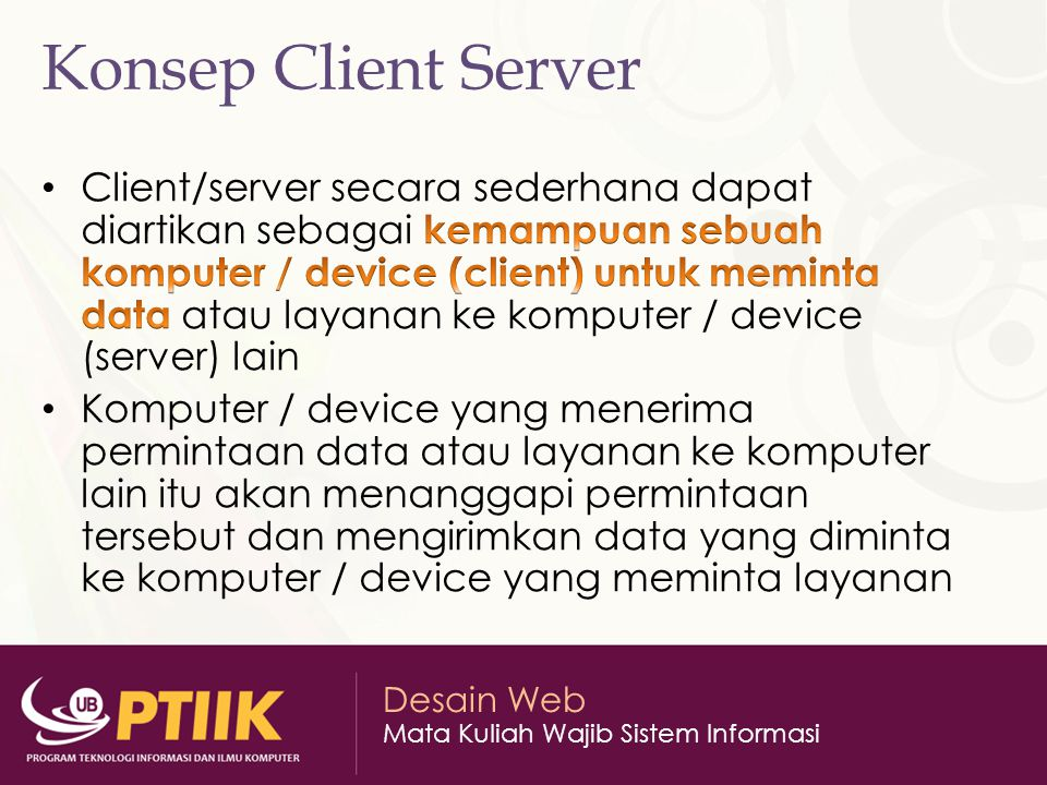 Konsep Client Server