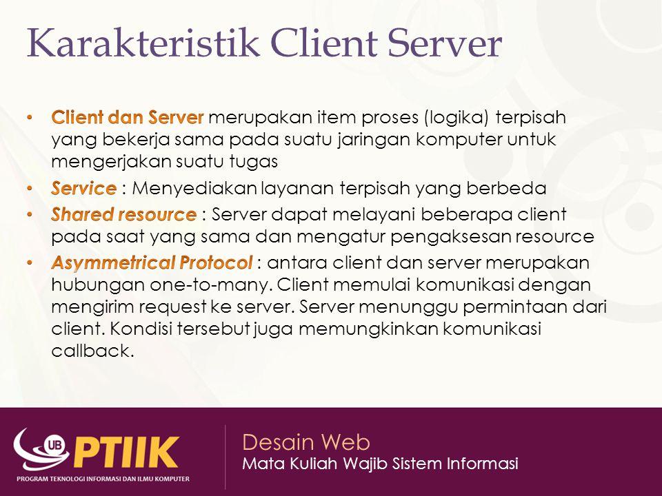 Karakteristik Client Server