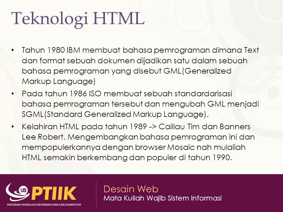 Teknologi HTML