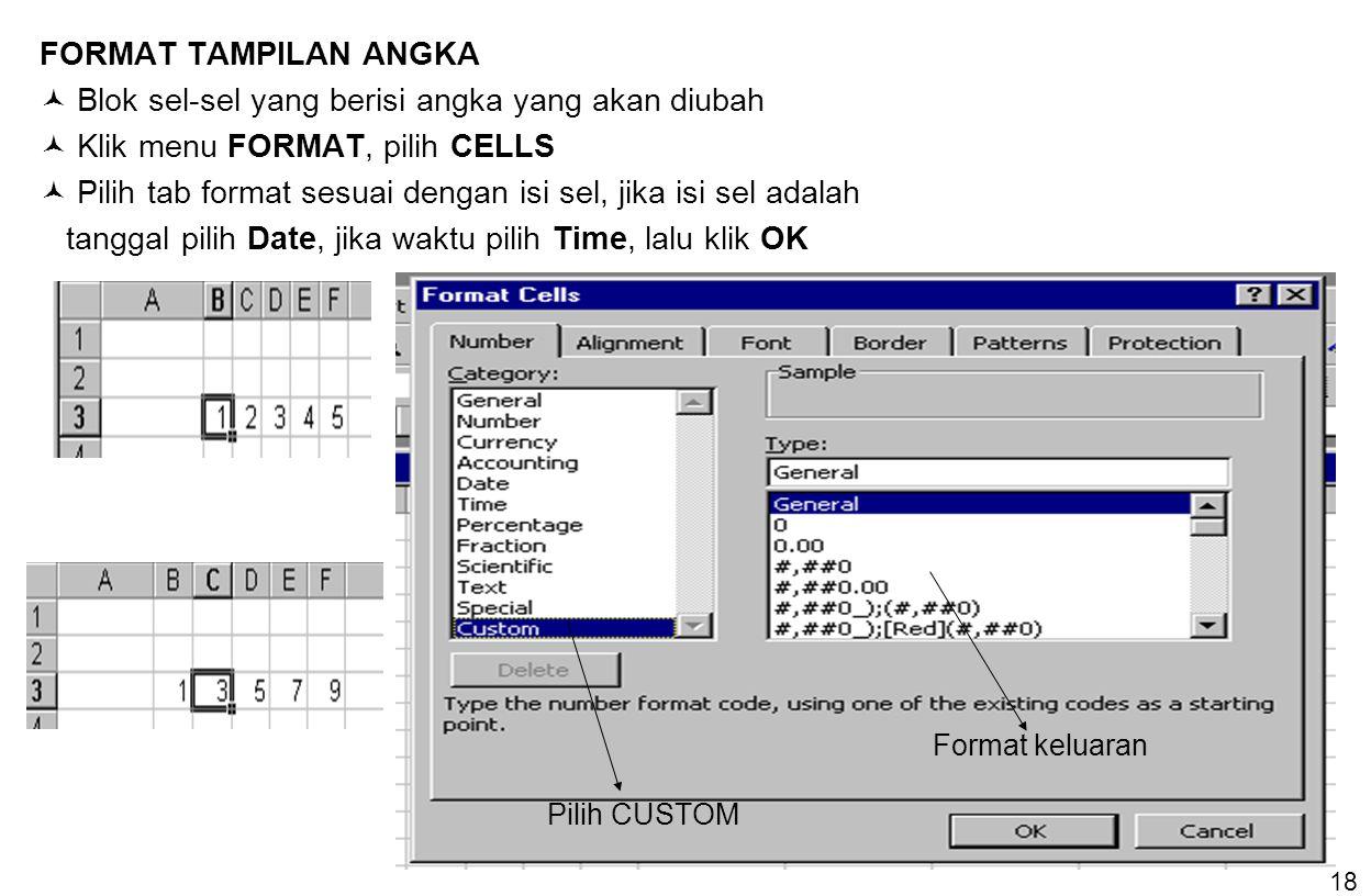  Blok sel-sel yang berisi angka yang akan diubah